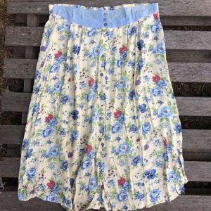 Vintage 90's plus size floral maxi skirt